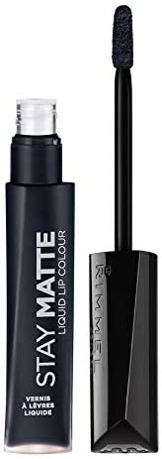 Rimmel London - Stay Matte Liquid Lip Color , Pitch Black - 840