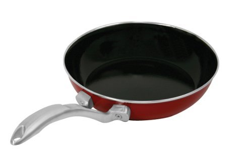 Chantal Copper Fusion 8-Inch Fry Pan, Chili Red ()