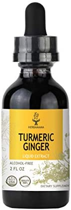 Turmeric Ginger Liquid Extract with Black Pepper 2 fl oz Strengthens the Immune System Supports Muscle and Joint Health Anti-Inflammatory Antioxidant All-Natural Dietary Supplement Non-GMO