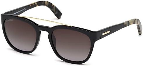 Amazon.com: DSquared2 Sunglasses Harry DQ 164 01B 54x20 ...
