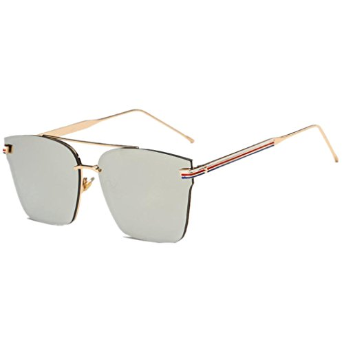 Clubmaster Classic Square Sunglasses Silver Flash Lense - 8