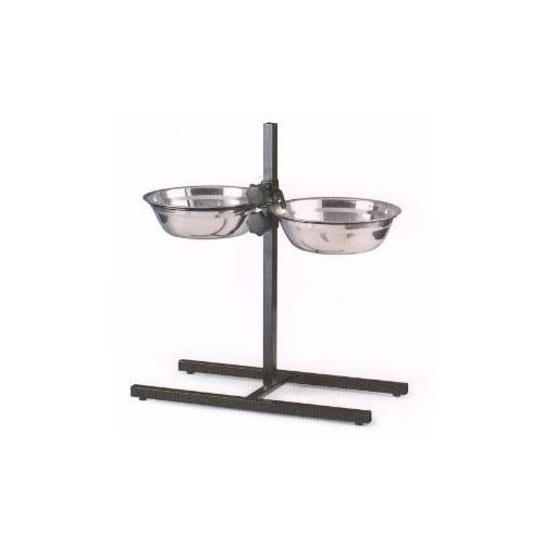 hot sale 2017 Small 2-Quart Adjustable Wrought Iron Stainless Steel Double Diner Food Water Bowls For Cat