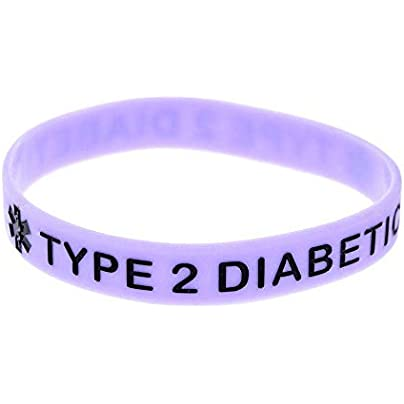Sxuefang Silicone Wristbands With Sayings Type Diabetic Warning Words For Kids And Adults Set Pieces Estimated Price £29.99 -