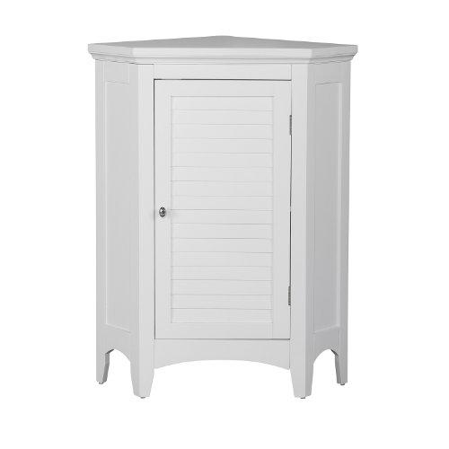 - Elegant Home Fashions Adriana Corner Floor Cabinet with 1-Shutter Door