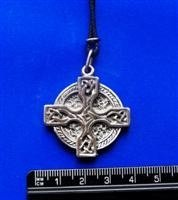 PEN26 - Celtic Cross And Circle Pewter Pendant ()