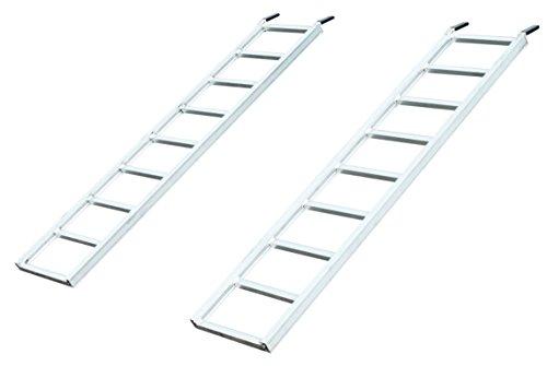 Aluminum Trailer Ramps (Yutrax TX195 Silver 70-inch Aluminum Utility Ramps - Pair, 1500lb Capacity)