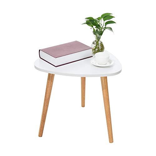 iHPH7 Nordic Minimalist Modern Coffee Table (50×48cm/19.68×18.89inch,White)
