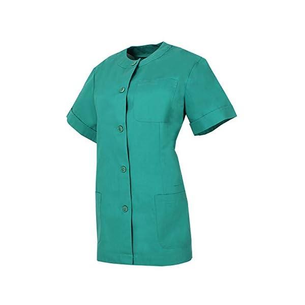 MISEMIYA - Casaca MÉDICA Doctora Enfermera con BOTÓN Cuello Redondo Uniforme Laboral Veterinaria Sanitarios - Ref.831 2