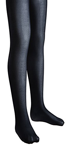 Sportoli Girls Opaque Hold and Stretch Footed Ballet Tights - Navy (size 12/14)