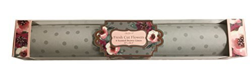 Lady Jayne Fresh Cut Flowers Scented Drawer Liners, Gray Polkadots on a Light Gray Background, 6 Sheets by Lady Jayne