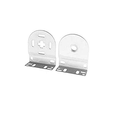 "Rollerhouse 32mm Roller Blind Repair Kit, Mount Window Shade Brackets, Curtain Roller Blind Accessories for Electric Blinds with 1 1/4"" Tube, 1 Pair, White"