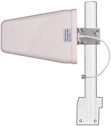 10 dBi Wideband Directional Antenna High Gain Log Periodic Antennas 50 Ohm 3G/4G/LTE/Wi-Fi Universal Fixed Mount Yagi Antenna (700-2700 MHz)