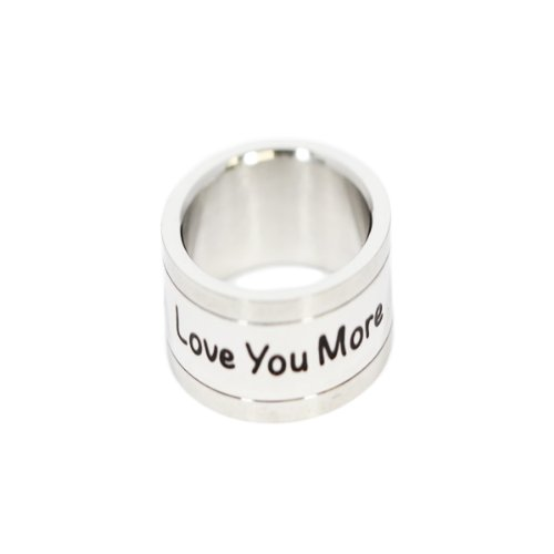 Love You More Ring - Stainless Steel Ring - Love Ring - Commitment Jewelry by Rush Industries (Image #2)