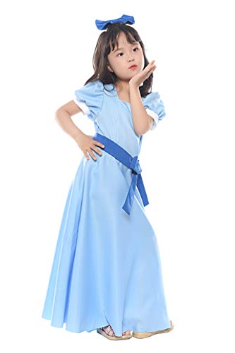 (NSPSTT Girls Princess Dress Halloween Party Cosplay Wendy Dress)