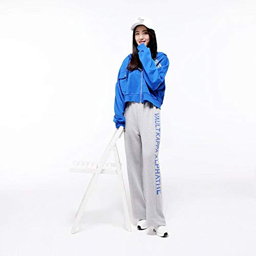Blue Unica Con cardigan Stampato Maglione Lxiangp Da Donna Sciolto Taglia Unica Donna Cappuccio Taschino Studentessa Moda Felpa Casual HRwnqaT