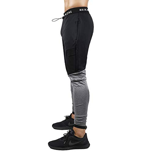 Shakestron Mens Athletic-Fit Joggers Sweatpants Gym Workout Skinny Track Pants