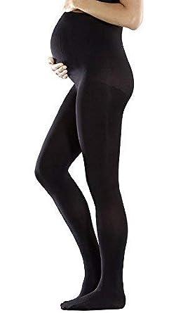 39013ff720769 AMBRA Women's Baby Bump Tights. AADB. 70DEN. 1 Pair. Black.: Amazon ...