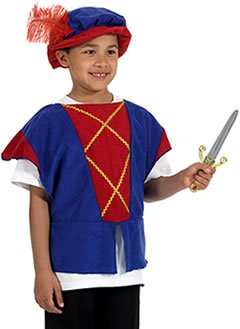 Tudor T-shirt Style Costume for Kids - 14th Century Elizabethan Costumes