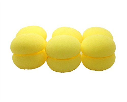 Round Sponge Curlers Roller yellow