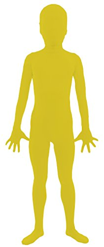 [VSVO Kids Yellow 2nd Skin Full Body Zentai Supersuit Costumes (Large, Yellow)] (Yellow Morphsuit)