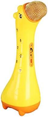 Aishanghuayi カラオケ、携帯電話、子供用マイク、オーディオマイク、黄色 。 ボーカル用に設計されています。 (Color : Yellow)