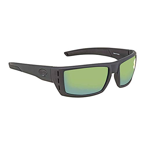 Costa Del Mar Rafael Sunglasses, Blackout, Green Mirror 580 Plastic ()