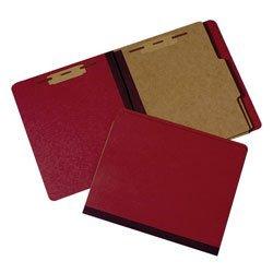 AbilityOne - Pressboard Classification Folder - 2 Divider, 6 Part, Letter size, Earth Red - Part Six