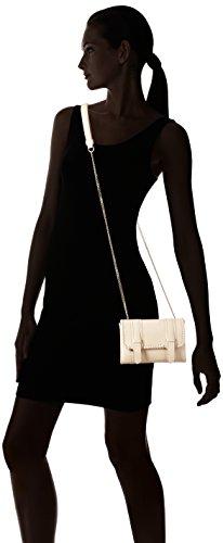 kaviar gauche Mini Satchel Bag Braided - Bolso bandolera Mujer Beige - Beige (nude/gold)