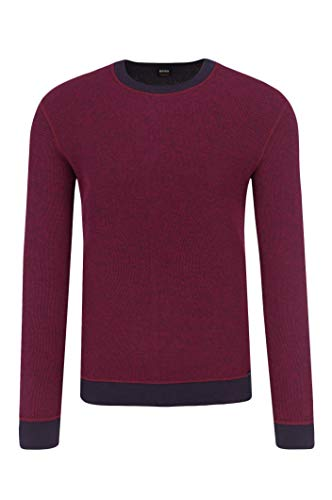 Boss Cotton Sweater - BOSS Orange Men's Walisburg Crew Neck Sweatshirt, Bright red, Medium