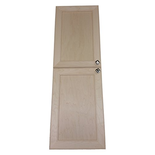 Wood Cabinets Direct MAX-BCK-262-2DRP Maxwell Recessed in The Wall Frameless Pantry Medicine Cabinet, 62""