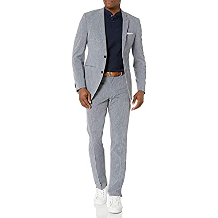 Perry Ellis Men's Slim Fit Machine Washable Tech...