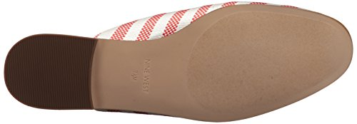 Mujeres Piso Fabric de Red West White off Sandalias Nine Iw14fTqxn
