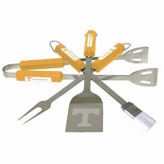 BSI Products Home Garden Patio Lawn Outdoor Kitchen Grills Accessories Tennessee Volunteers NCAA Sports Team Logo 4 Pc Bbq Set