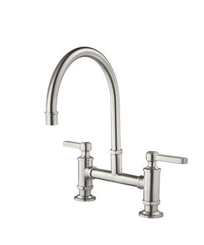 Pfister GT31-TDS Port Haven 2 Handle Kitchen Faucet, Stainless Steel