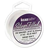 Silver Filled Wire - 20 Gauge Dead Soft Round - 0.5oz (9.38ft) by Beadsmith