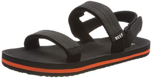 Reef Boys' Little AHI Convertible Sandal, Grey/Orange, 078 M US Kid