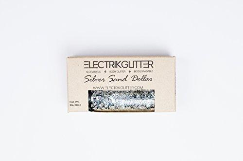 Electrik Glitter Biodegradable Body Glitter (5G) (Silver Sand Dollar) by Electrik Glitter (Image #4)