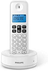 Philips D1611W/34 - Teléfono Fijo Inalámbrico (Retroiluminación, HQ-Sound, hasta 4 Microteléfonos, Agenda 50 números, Consumo reducido Eco, Identificador de Llamadas, Alcance 50m-300m) Blanco