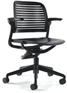 steelcase cachet chair 5 star base standard carpet casters black - Steelcase Chairs