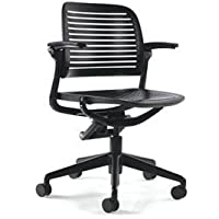 Steelcase Cachet Chair: 5 Star Base - Standard Carpet Casters - Black