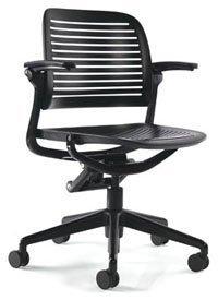 Steelcase Cachet Chair: 5 Star Base   Standard Carpet Casters   Black