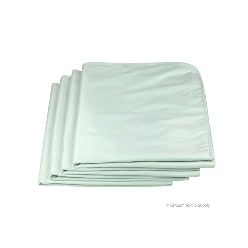 (Linteum Textile (4-Pack, 34x36 in, Green) WASHABLE REUSABLE UNDERPADS, Made In the USA, Twill Face Fabric, Waterproof Incontinence Bed)