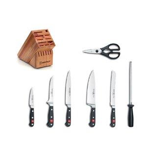 Wusthof Classic 8 Piece Deluxe Beechwood Knife Block Set 8408