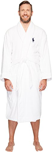 Polo Ralph Lauren Men's Tall Terry Shawl Robe White 4XT