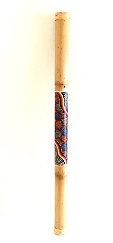 Rainstick Bamboo Rain Stick Percussion Shaker Instrument, Nice Sound Hand Painted – 40″, JIVE BRAND