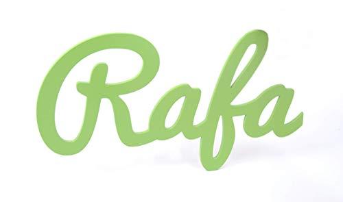 Nombre de madera personalizado letras decorativas para decoración infantil regalo de cumpleaños y comuniones.
