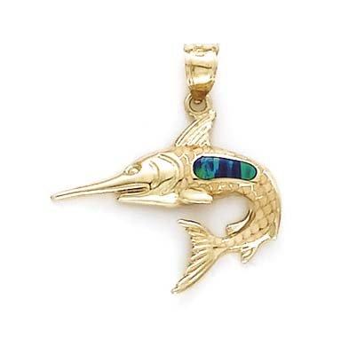 SwordFish - 14 carats Opale-JewelryWeb