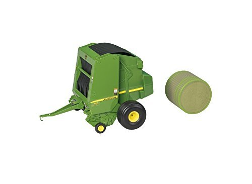 John Deere #45489 - LP51302 569 ERTL Round Baler with Bale Vehicle Attachment (1/16 Scale) ()
