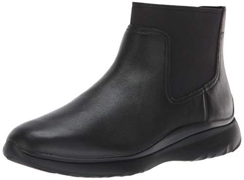 Cole Haan Women's 3.Zerogrand Chelsea Bootie Waterproof Boot, Black Leather, 7 B ()