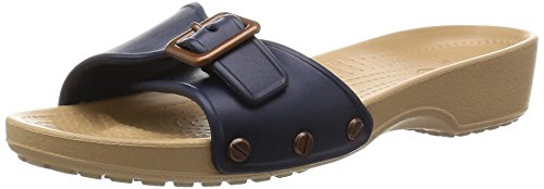 crocs Women's Sarah Sandal, Navy/Gold 5 W